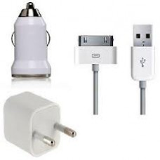 KIT CARREGADOR IPHONE 3 EM 1 2G/3G/3GS/4/4S SIMILAR