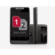 SMARTPHONE DUAL CHIP MOTOROLA RAZR D1 XT918 PRETO ANDROID 4.1 DESBLOQUEADO - CÂMERA 5MP, DUAL TV