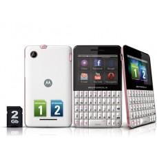 Celular Motorola EX119 Branco com Rosa Desbloqueado usado