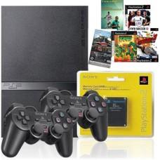 Playstation 2 Slim Destravado 2 Controle MEMORI CARD 5 JOGOS