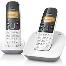 Telefone Sem Fio Duo A390 Identificador de chamadas, Agenda, Teclado luminoso, BRANCO - Gigaset