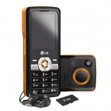 CELULAR LG GM205 PRETO E LARANJA CAMERA 2.0 MP MP3 PLAYER RADIO FM