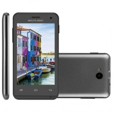 SMARTPHONE MULTILASER MS40 PRETO 4GB DUAL SIM 3G CAM 5MP