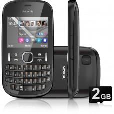 Nokia Asha 201 Grafite Teclado Qwerty, Câmera De 2mp, Rádio Usado