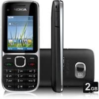 Nokia C2-01 Câmera 3.2MP 3G MP3 Bluetooth Preto Desbloqueado