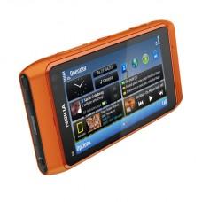 """NOKIA N8 NOVO DESBLOQUEADO SYMBIAN 3 WCDMA SMARTPHONE W / 3,5 """"CAPACITIVA, GPS, CÂMERA DE 12MP E WI-FI - LARANJA 16GB"""