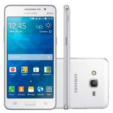 SMARTPHONE SAMSUNG GALAXY GRAN PRIME SM-G530H BRANCO DUAL SIM TV CAMERA 8MP FRONTAL DE 5 MP