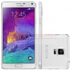 SMARTPHONE SAMSUNG GALAXY NOTE 4 SM-N910C BRANCO ANDROID 4.4 TELA 5.7 POLEGADAS QUAD HD SUPER AMOLED 32GB WI-FI CÂMERA DE 16MP FRONTAL DE 3.7 MP