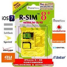 Chip Gevey R-SIM 8+ p/ iPhone 4S, 5 (iOS 6.0.1 > 6.1.4) (Suporta Chip de 128k / 256k / 512k)