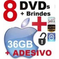 8 Dvds Aplicativos Jogos Iphone Ipad Desbloqueio Ios App