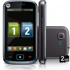 CELULAR MOTOROLA EX128 BRANCO DUAL CHIP CÂMERA 3MP MP3 RADIO FM BLUETOOTH E CARTÃO 2GB